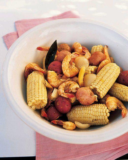 Shrimp Boil, Recipe from Martha Stewart Living, July 2006