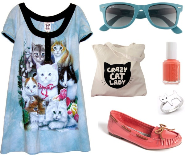 Crazt Cat Lady, created by cherry-garcia on Polyvore