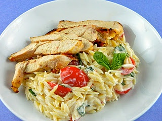 Orzo with Chicken and lemon