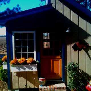 mom 39 s potting shed she built it painted it and posted on pinterest