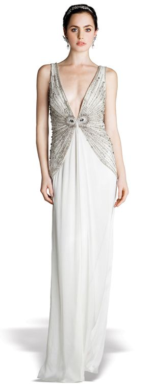 Roaring 20s inspired wedding gown wear pinterest for Roaring 20s wedding dress