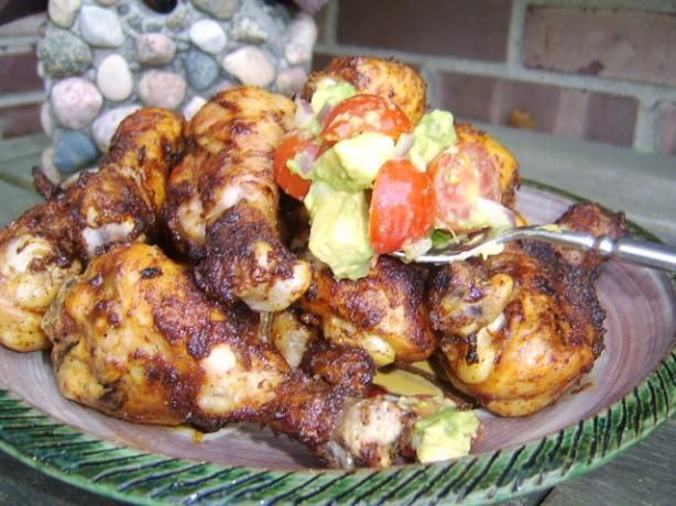 BBQ Chili Drumsticks With Avocado & Tomato Salsa from Food.com: Lately ...