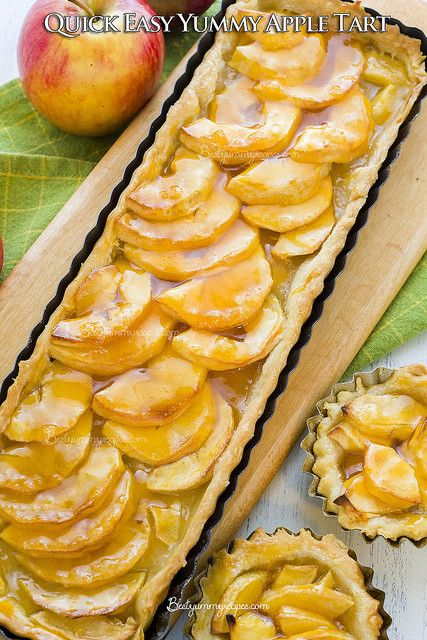 and easy apple or pear tart recipe quick and easy apple pie bites made ...