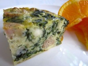 Fret-Free Frittata With Swiss Chard and Chicken Sausage - can be made ...