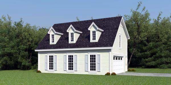 cape cod garage plan 47152