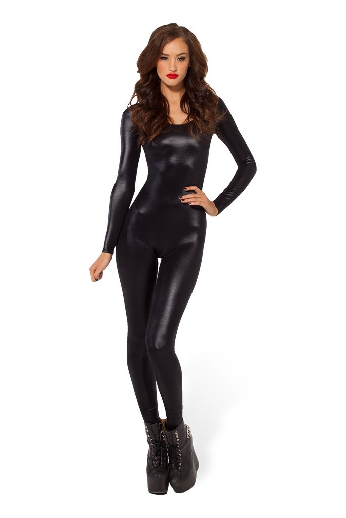 Wet Look Long Sleeve Catsuit 2.0 by Black Milk Clothing $99AUD