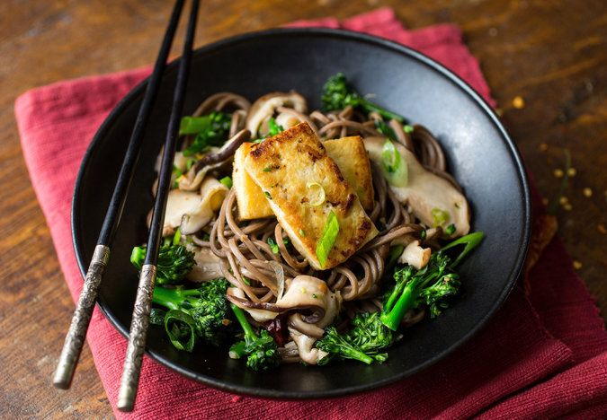 Stir-Fried Soba Noodles With Shiitakes and Baby Broccoli - NYTimes.com
