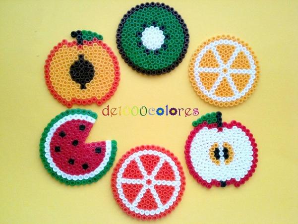 Fruit Coasters Hama Beads