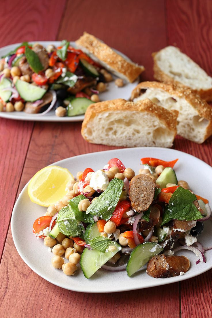 Greek-Style Sausage and Chickpea Salad | New Zealand Classic Recipes ...