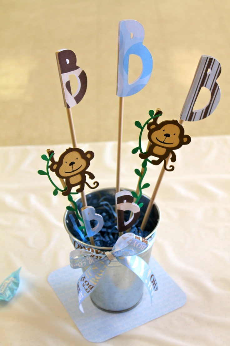 baby shower monkey boy centerpieces baby shower ideas pinterest