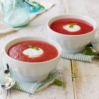 Chilled Watermelon Soup | Fruits | Pinterest