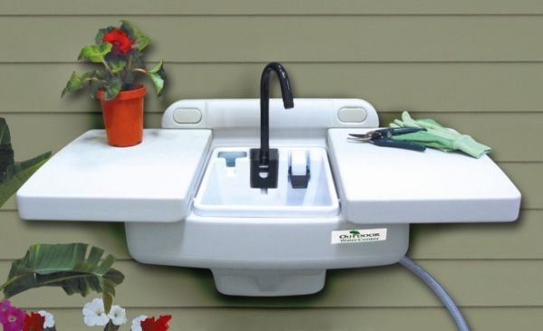 outdoor sink Library Shed Pinterest