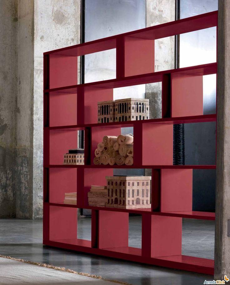 Libreria free-standing per il soggiorno Brera - ARREDACLICK
