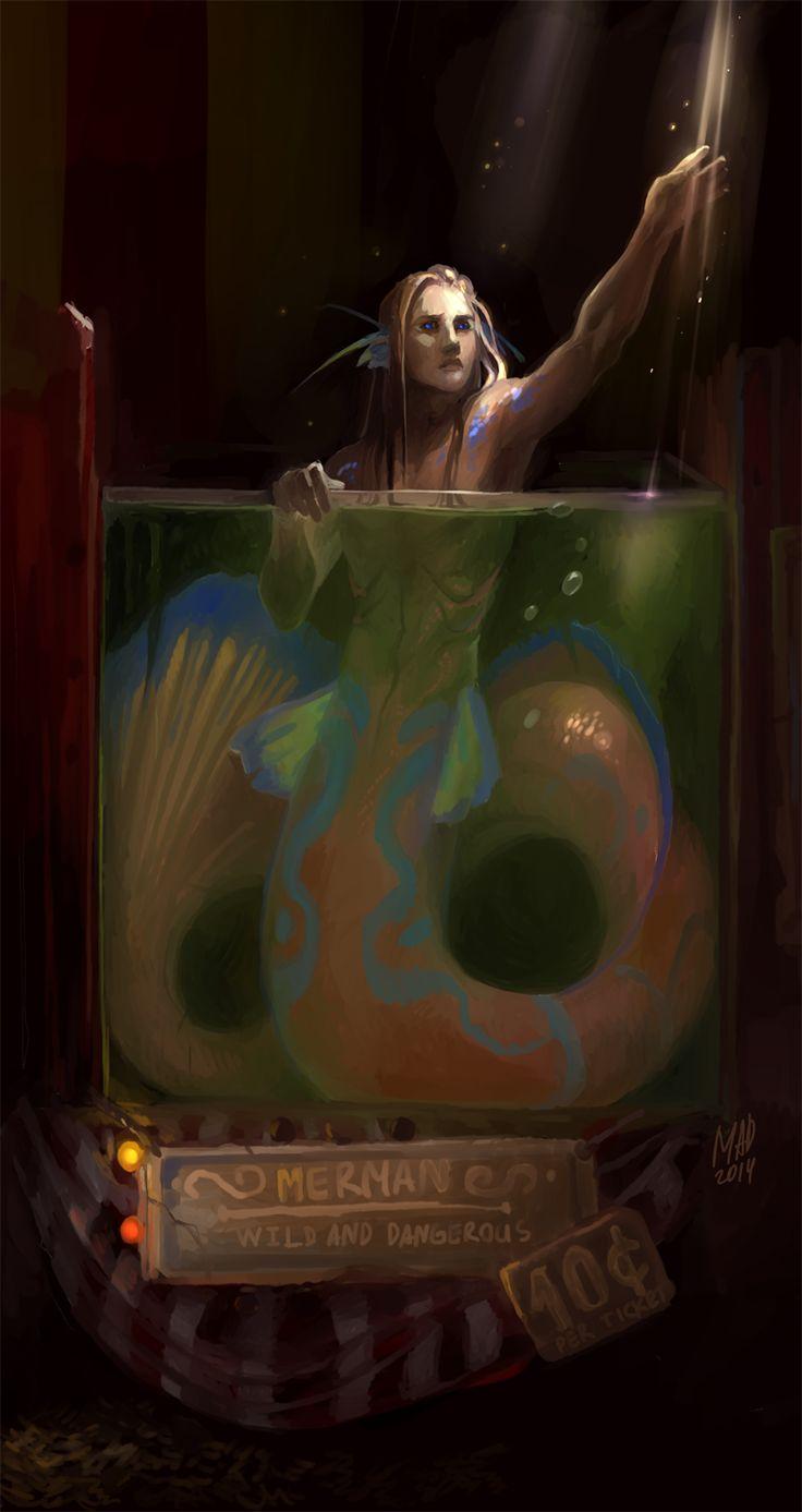 ♒ Mermaids Among Us ♒ art photography & paintings of sea sirens & water maidens - Merman by DemonLife.deviantart