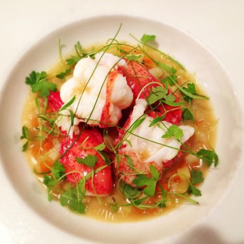 poached lobster shrimp w fresh tomatoes recipe yummly butter poached ...