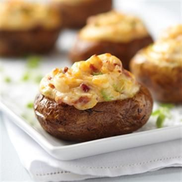 Creamy Bacon Cheddar Twice Baked Potatoes | Recipe