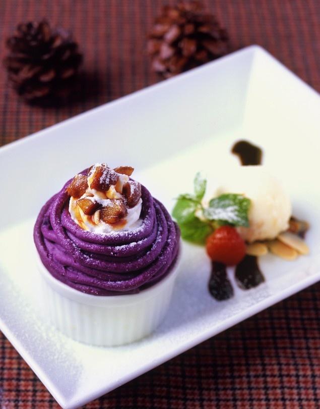 Purple Sweet Potato Mont Blanc Pudding Recipe — Dishmaps
