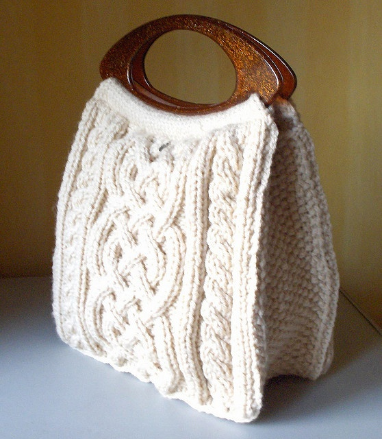 Cable Knitted Bag Pattern Fiber Arts Pinterest