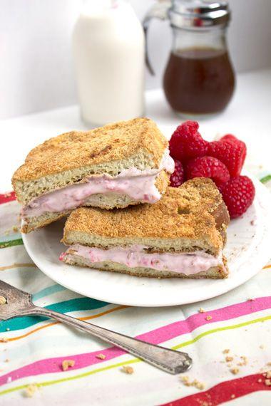 Skinnier Raspberry Cheesecake Stuffed French Toast - FoodFaithFitness