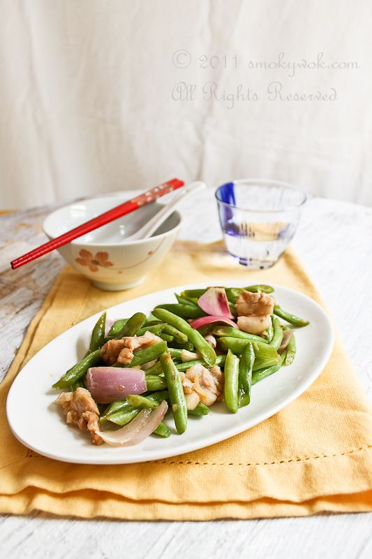Green Beans Stir-fry with Shallots and Pork Recipe