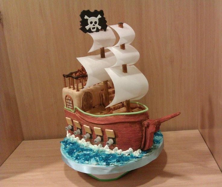 Sailing ship cake. Birthday - Pirate themed Pinterest