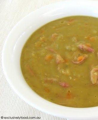 Split Pea and Ham Soup- followed recipe on back of pea packet(more ...