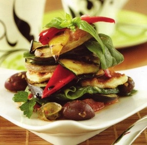 pretty roasted vege stack   Low cal and some gluten free meals   Pint ...