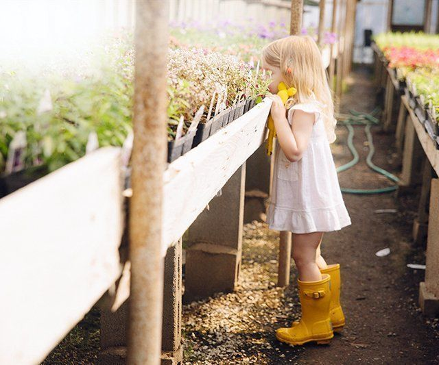 Kid's Wellington Boots | Hunter - These little yellow wellies are adorable on little blonde girls.