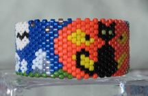 Peyote Stitch Graph Paper For Lighter Covers | Spooky Cat Tea Light Cover