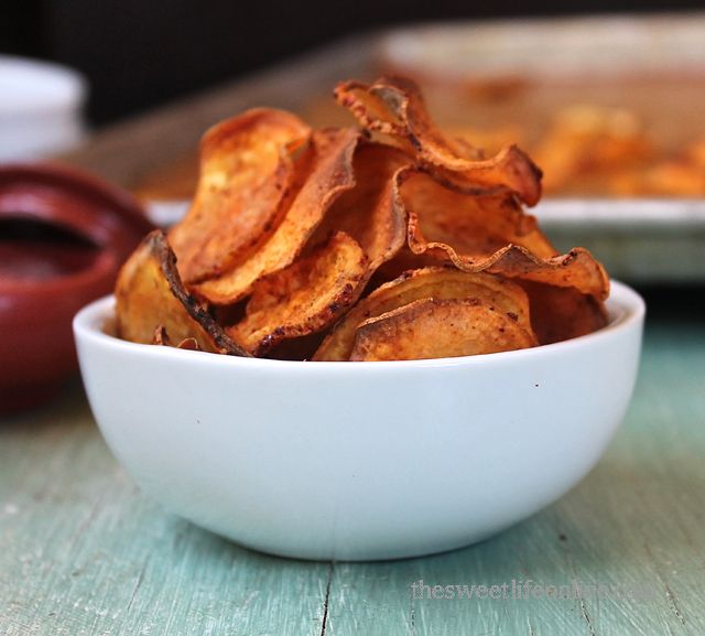 Sweet potato BBQ chips! A satisfying crunchy snack from The Sweet Life ...