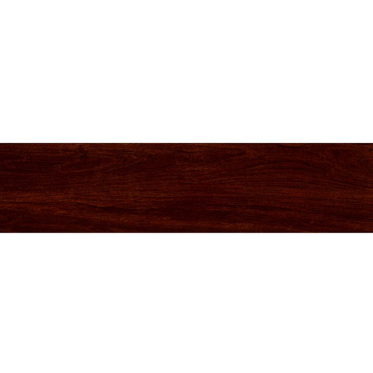 Shop Style Selections 6-in x 24-in Serso Mahogany Glazed Porcelain