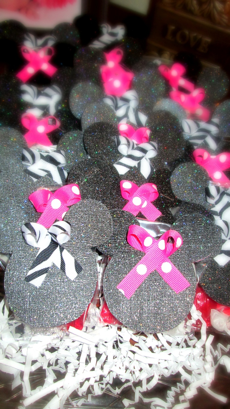 baby shower minnie mouse favors ashley pinterest