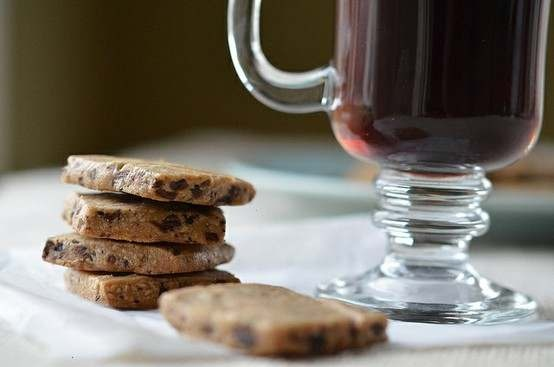 Chocolate Espresso Bean Shortbread Cookies.