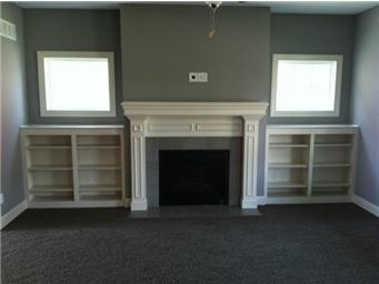Bookcases next to fireplace idea for the home pinterest for Bookcases next to fireplace