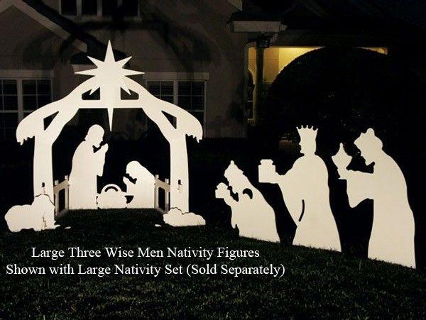 free silhoutte nativity scene patterns three wise men nativity