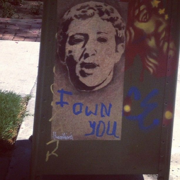 Facebook : Zuckerberg streetart Does he own you?
