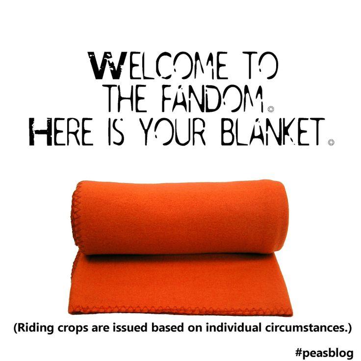 Oh, thank you, Fandom. I do enjoy my blanket.