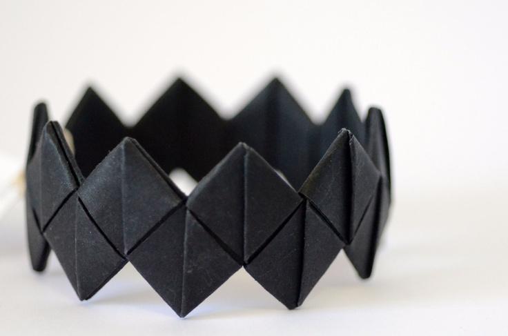 black origami paper