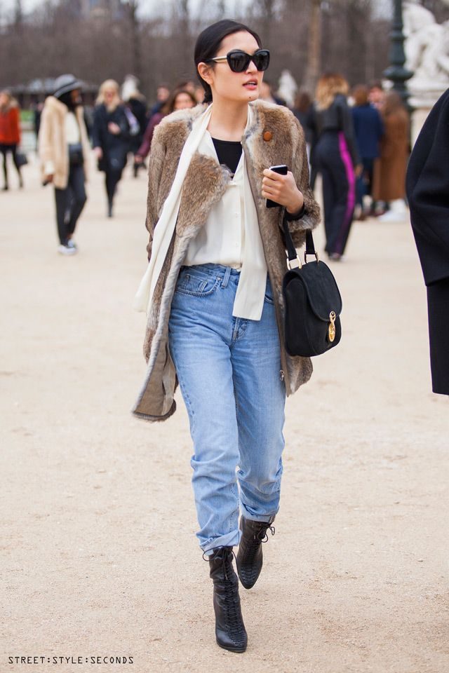 how to style distressed skinny jeans, Paris Fashion Week Fall 2014, photo by Street Style Seconds