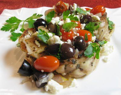 Greek Chicken Thighs - the hubs made this tonight and its delicious!