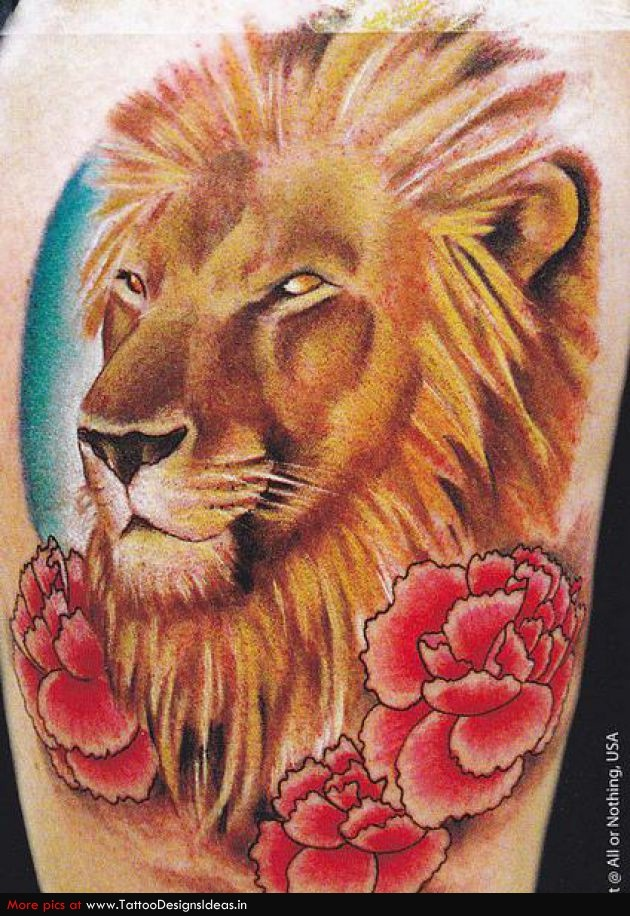 lion and roses tattoo tattoo pinterest. Black Bedroom Furniture Sets. Home Design Ideas