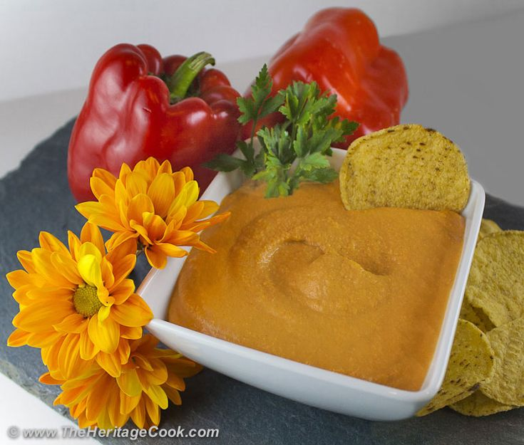 Red Bell Pepper Hummus, the perfect healthy appetizer at The Heritage ...