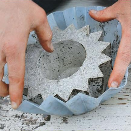 Make your own concrete planters for Make your own cement