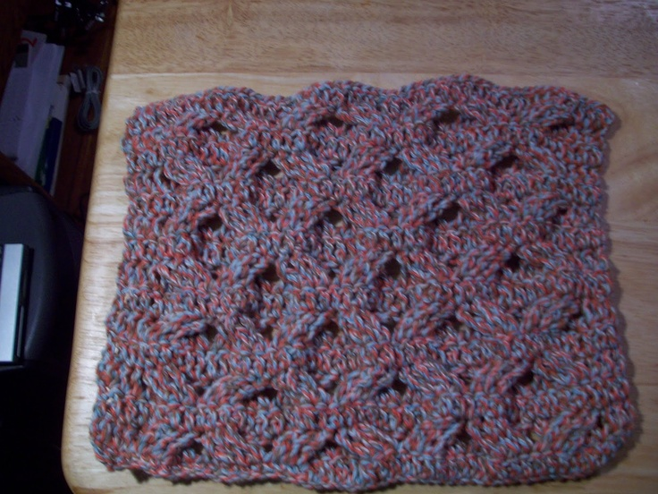 reversible cable stitch Crochet Afghans & Bedspreads Pinterest
