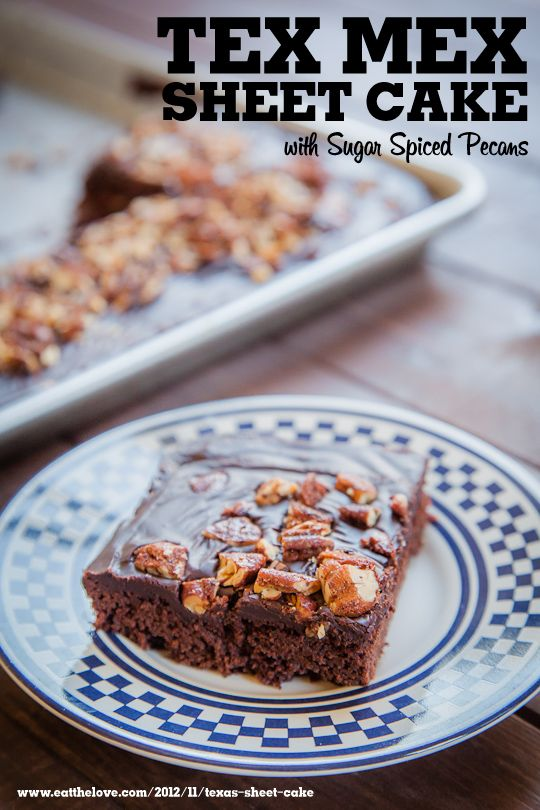 Tex Mex Sheet Cake (Texas Sheet Cake with Mexican Chocolate spices) w ...