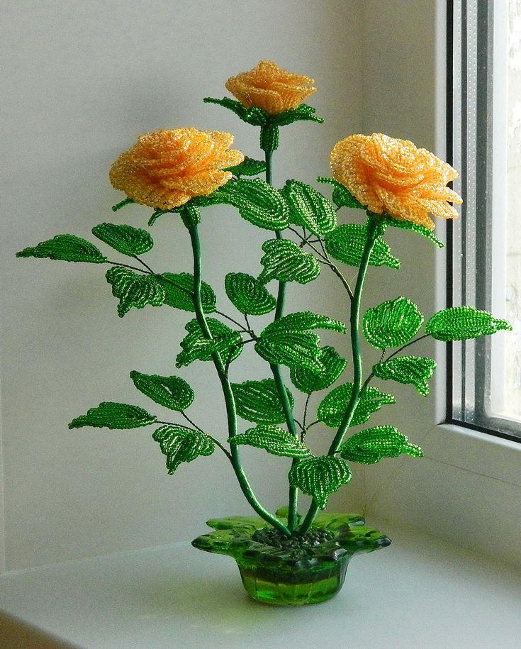 Цветы и цветы из бисера новые
