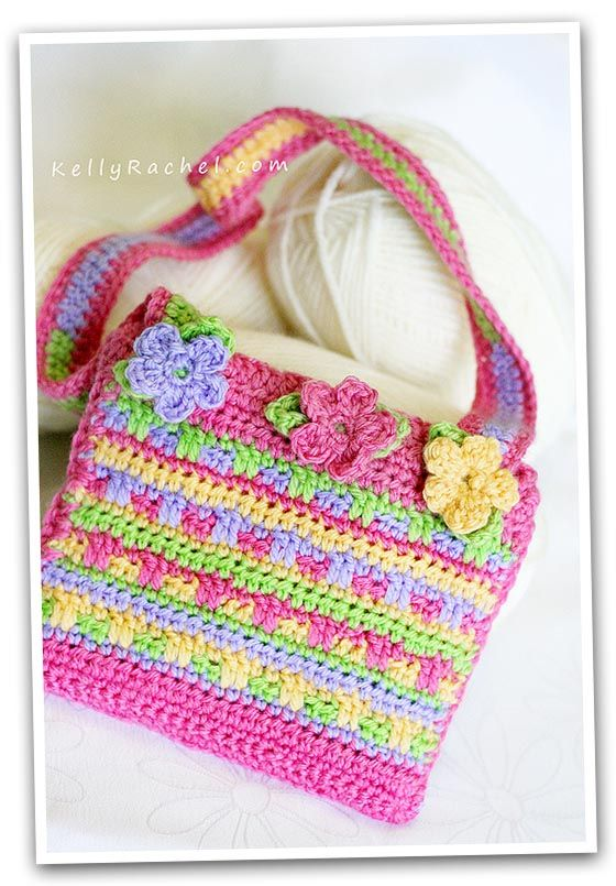 little girl purse pattern Crochet For Girls And Boys Pinterest