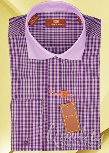Steven land dress shirt 20 34 35 lavender high collar for 20 34 35 dress shirts