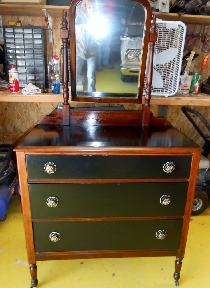 ... and stain antique dresser   Furniture I have refinished   Pinte