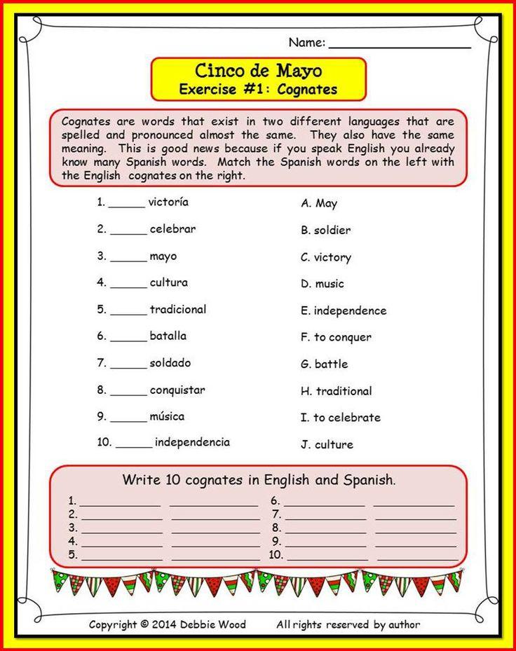 Cinco de Mayo Bilingual Reading/ Vocabulary/ Grammar/ Cognates
